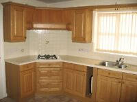 Fitted kitchen units.
