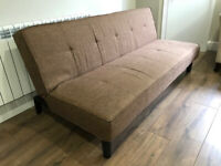 2 x Habitat Patsy Fabric Clic Clac Sofa Beds - Brown (£120 for both)