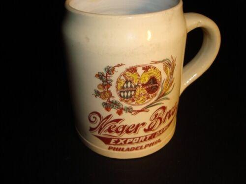 Circa 1900 Weger Bros Brewing Ceramic Mug, Philadelphia, Pennsylvania