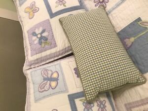Girls Bedding - Pottery Barn Quilt (Double) and Accessories