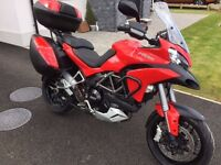 Ducati Multistrada 1200S Touring July 2015 Full Panniers, Heated Grips, ABS, FSH, 8054 miles