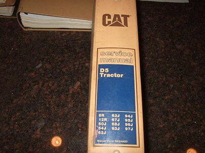 Cat Caterpillar D5 Tractor Service Shop Repair Manual 6r 12r 50j 54j 62j 63j 67j