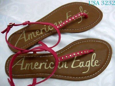 American Eagle AE Sandal Flip Flop Flops Shoes Shoe Thong T strap Slipper  7 for sale  Shipping to Nigeria