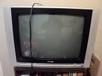Curtis TV with remote and  tv stand