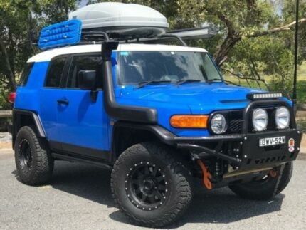 2011 Toyota FJ Cruiser GSJ15R Blue 5 Speed Automatic Wagon Eagle Farm Brisbane North East Preview