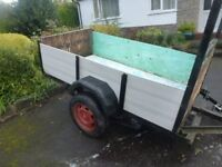 Two Wheeled Trailer 7x4 foot