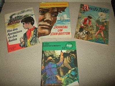 4x Groschen-Romanhefte,Kleine Jugendreihe,1955/56,DDR-Sammelhefte,Romanliteratur