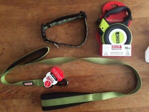 Kong dog traffic leash,dog collar and retractable leash-$50 OBO