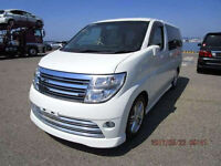 FRESH IMPORT LATE 2004 FACE LIFT NISSAN ELGRAND RIDER 3.5 V6 AUTOMATIC PEARL