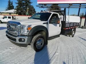 2012 FORD F450 4X4 FLAT DECK /61 000 kms