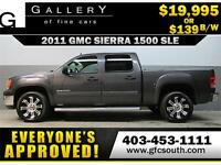 2011 GMC SIERRA  1500 SLE *EVERYONE APPROVED* $0 DOWN $139/BW!