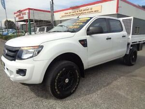 2012 Ford Ranger PX XL 2.2 (4x4) White 6 Speed Manual Crewcab Sandgate Newcastle Area Preview