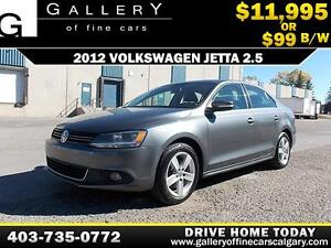 2012 Volkswagen Jetta 2.5L $99 bi-weekly APPLY NOW DRIVE NOW