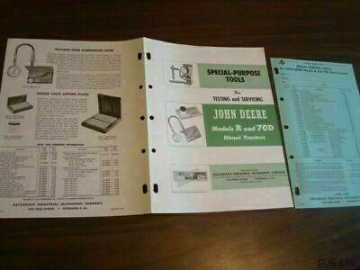 1954 John Deere R 70d Diesel Tool Brochure Sales Catalog Cf368