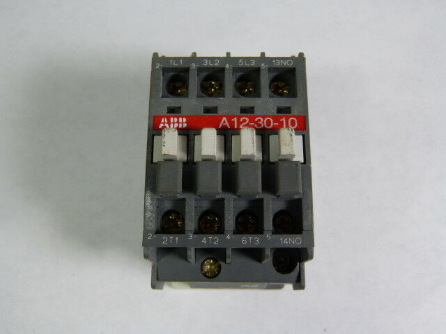 Asea Brown Boveri A12-30-10-84 Contactor 110/120V Coil 3Pole 50/60Hz  USED