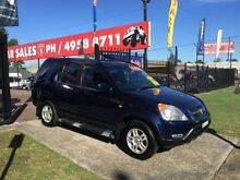 2002 Honda CR-V MY02 (4x4) Sport Blue 4 Speed Automatic Wagon Edgeworth Lake Macquarie Area Preview