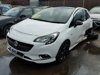 VAUXHALL CORSA E FRONT BUMPER COMPLETE WITH GRILLS 2015 2016 2017 WHITE