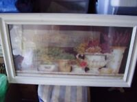 Large Shabby Chic Framed Picture