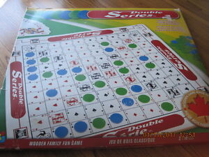 Double Series Large Wooden Family Fun Game in Orig. Box /w Chips