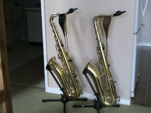 TWO YAMAHA TENOR SAXOPHONES & ACCESSORIES