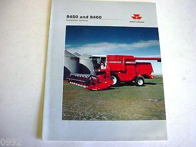 Massey Ferguson 8450 8460 Combine 12 Pages1993 Brochure   M