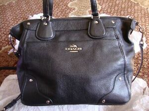 authentic coach leather bag large