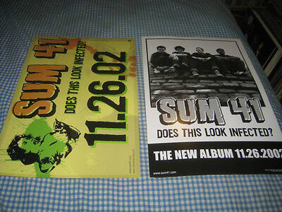 SUM 41-(does this look infected?)-1 POSTER-2 SIDED-11X17-NMINT-RARE