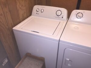 Almost new Amana washer and dryer