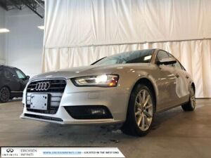2014 Audi A4 PROGRESSIV/HEATED SEATS/ALL WHEEL DRIVE/SUNROOF