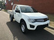 2011 Mitsubishi Triton MN MY11 GLX White 4 Speed Automatic Cab Chassis St Marys Penrith Area Preview