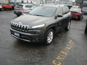 2015 Jeep Cherokee Limited AWD V6 Nav