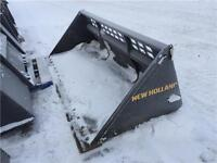 """2015 New Holland 96"""" Snow Bucket for Skid Steers"""