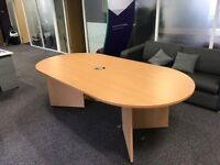 Amazing Boardroom Table - Beech effect 2.4 metres long