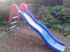 ELC Blue solid slide 1 m high 2m long