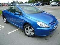 2004 Peugeot 307 CC 2.0 16v Coupe only 60516 miles shrewsbury