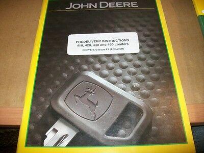 Original John Deere 410420430460 Loader Operators Manualvintage Tractor