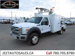 2011 Ford Super Duty F-550 DRW Service Truck with 3200LBs Crane