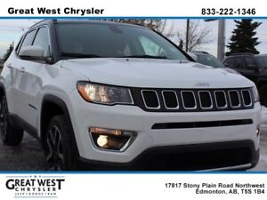 2017 Jeep Compass WHITE ON BLACK**NAVIGATION**PWR LIFTGATE**LEAT