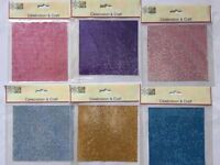 Craft items. Self/ Adh Diamante Look Bling Sheets x 6 lovely colours.