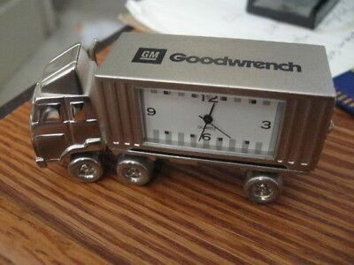 General Motors GM Mr Goodwrench Clock Semi Truck and trailer