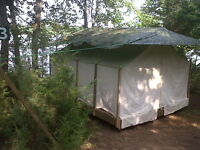 Luxury Lakeside Tent Cabin on Rice Lake! Shhh....hear the waves?