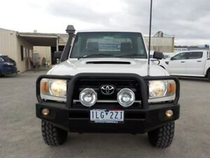2007 Toyota Landcruiser White Manual Cab Chassis