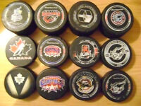 hockey puck for trade(game used )