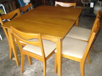 Krug Dining Room Table & 6 Chairs, Display Cabinet, China Cabnet