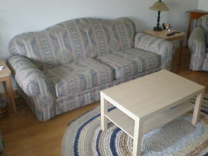 Sofa and two Armchairs Set
