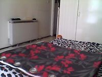 beautiful pair of black and red studio style curtains for sale