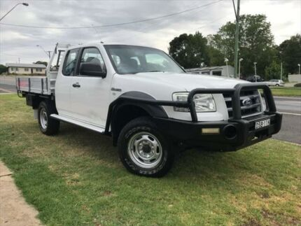 2008 Ford Ranger PJ 07 Upgrade XL (4x4) White 5 Speed Manual Super Cab Chassis
