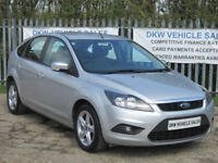 FORD FOCUS 1.6 ZETEC (100HP) 5DR SILVER 2010 (10) ONLY 69K FSH 9 X STAMPS / VGC!