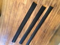 Three commercial rubber cable covers for office floor