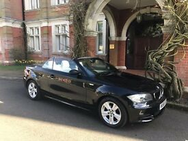 Top spec 1series convertible 120d -Black with cream leather interior